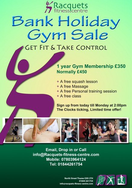 August Bank Holiday 2014 Gym Membership Offer